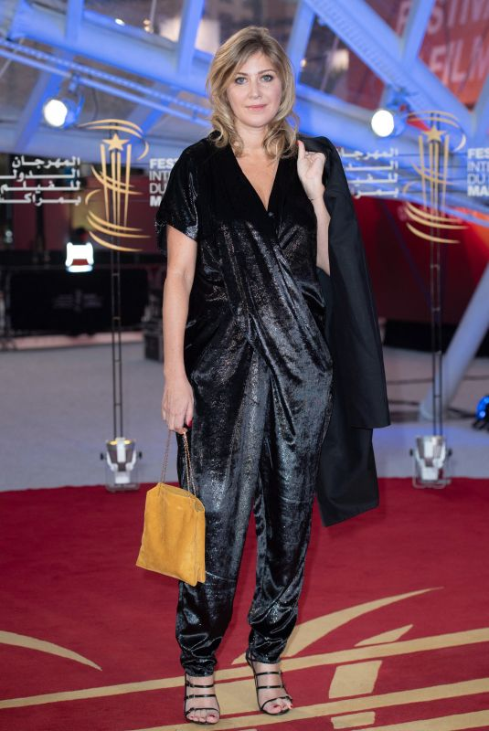 Amanda Sthers Attending the red carpet before the Opening Ceremony of the 18th Marrakech International Film Festival in Marrakech