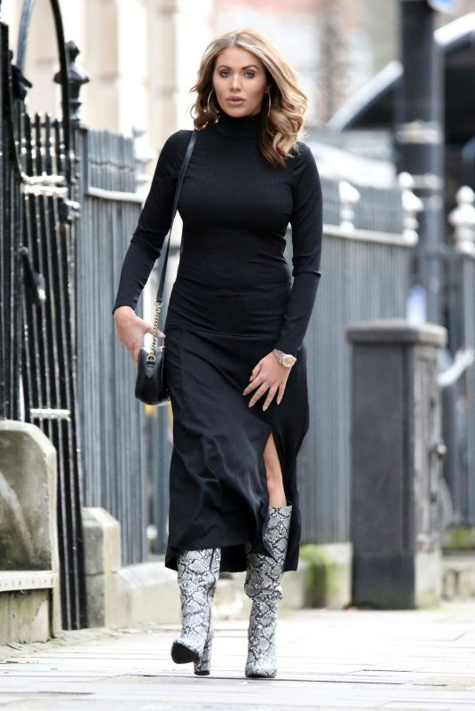 Amy Childs Spotted out and about in London