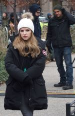 Anna Kendrick On the set of HBO