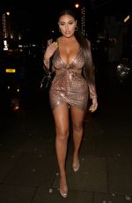 Anna Vakili and Mandi Vakili seen arriving at there friends birthday party in Clapham