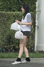 Ariel Winter Grabs her Door Dash order in Studio City