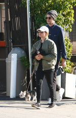 Ashley Tisdale And husband Christopher French walk their pups on sunny afternoon in Los Feliz