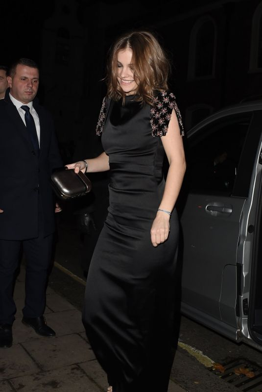Barbara Palvin Arriving at a Fashion Awards After Party in London