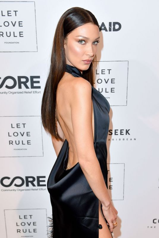 Bella Hadid Attends the Core x Let Love Rule Benefit during Art Basel in Miami