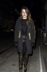 Bella Thorne Seen heading out for dinner in London
