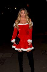 Bianca Gascoigne Dressed as a sexy Santa as she heads to a Christmas party in Essex