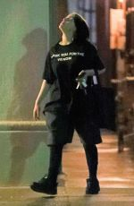 Billie Eilish Leaving a night gym session at Fit & Bendy in Los Angeles