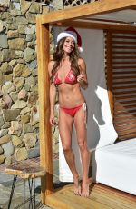 Brooke Burke In red Getting ready for Christmas in Malibu