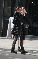 Brooke Shields Hailing a cab after leaving a gym in NYC