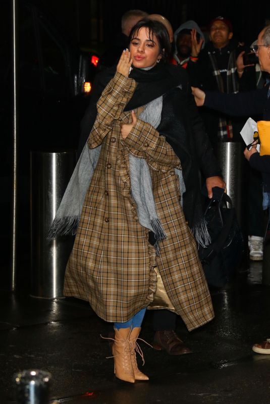 Camila Cabello Blows kisses arriving at Z100 Jingle Ball in New York