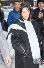 Camila Cabello Seen greeting her fans as she leaves Z100 studios in New York