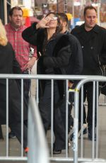 Camila Cabello Waves to her fans upon arriving at her Album Pop-up store apperance in New York