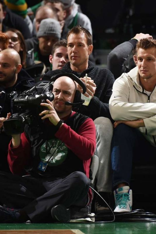 Camille Kostek Spotted courtside at Nuggets vs Celtics game in Boston