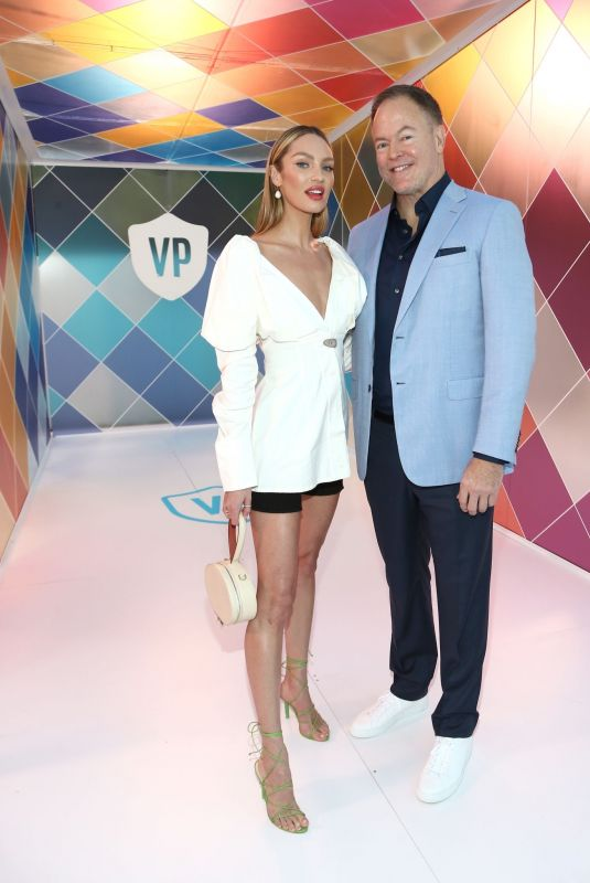 Candice Swanepoel At Vital Proteins Collagen Water Beverly Hills Bash