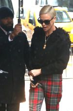 Charlize Theron Arriving at The View to promote her latest film