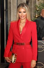 Chloe Sims Arrives at the TRIC Christmas Charity Lunch at the Grosvenor House Hotel in London