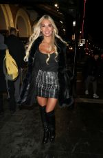 Christine McGuinness Enjoys Thriller Live at the Lyric theatre in London