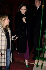 Daisy Ridley Leaving Park Chinois Restaurant in London