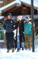 Dakota Johnson Seen having fun skiing in Aspen