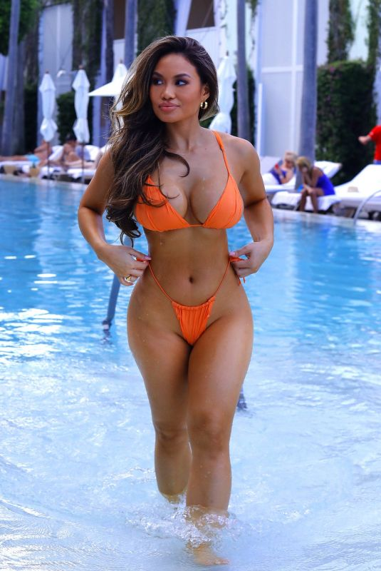 Daphne Joy At A day by the pool during Art Basel in Miami