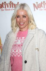 """Denise Van Outen Attends the press night performance of """"Nativity! The Musical"""" at The Eventim Apollo, Hammersmith in London"""