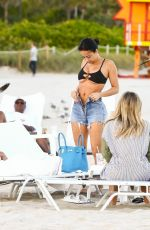 Draya Michele Relaxes on the beach with friends in Miami