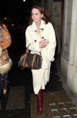 Emilia Clarke Left a restaurant with a friend in Soho