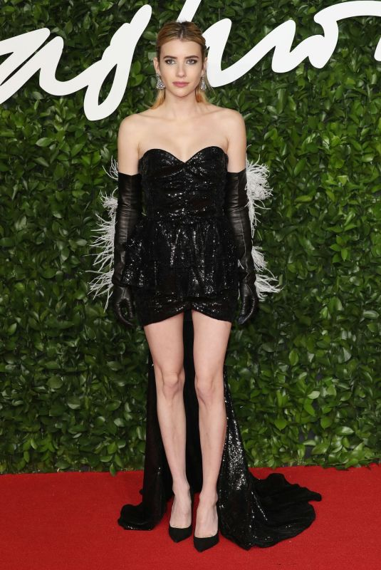 Emma Roberts At The Fashion Awards at Royal Albert Hall in London