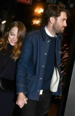 Emma Stone Heads to the SNL afterparty in New York