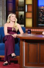 Florence Pugh At The Late Show with Stephen Colbert in New York City
