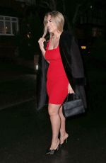 Frankie Essex Heading for a Christmas meal at Zuma in London