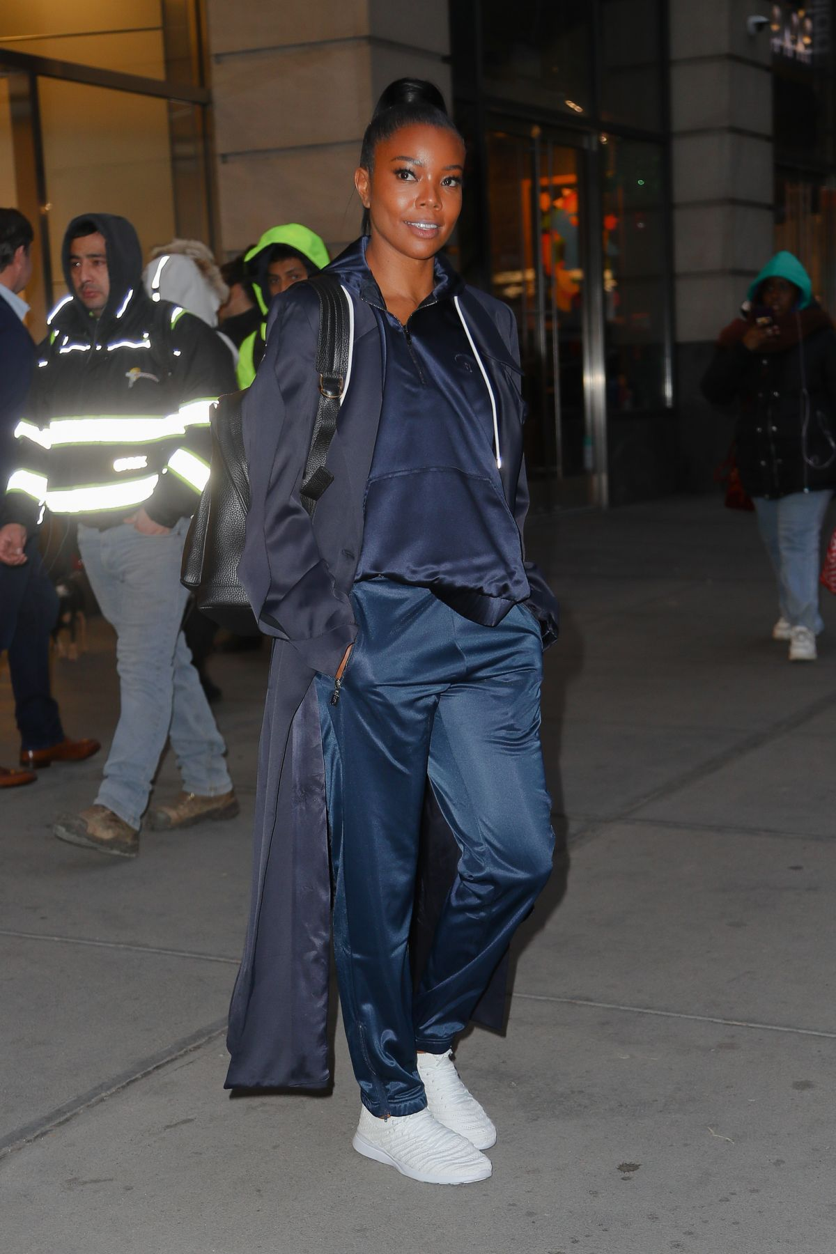 Gabrielle Union Spotted All Smiling While Leaving The New