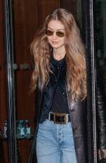 Gigi Hadid Leaving the Royal Monceau hotel in Paris, France