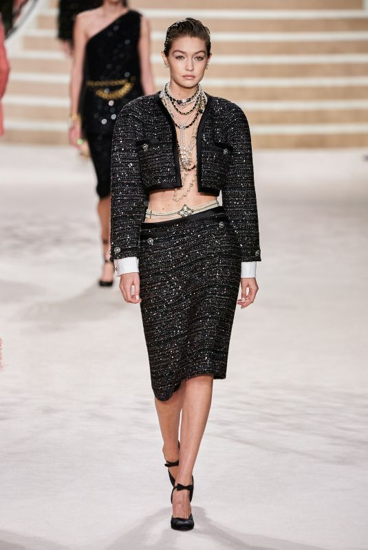 Gigi Hadid Walks the runway during the Chanel Metiers D