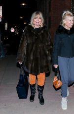 Goldie Hawn All smiles after enjoying a day shopping with a friend in Aspen