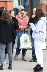 Gwyneth Paltrow Goes Christmas shopping with a group of friends on a chilly afternoon in Aspen
