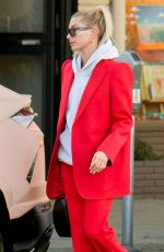 Hailey Bieber Out & about with a friend in Beverly Hills
