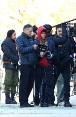"Halle Berry Directing herself for her upcoming MMA movie ""Bruised"" filming in New Jersey"