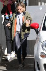 Hilary Duff At Alfred Coffee in Studio City