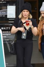 Hilary Duff Is joined by a friend to pick up lunch at Sweetgreens in Studio City
