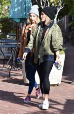 Hilary Duff Outside a gym in Sherman Oaks