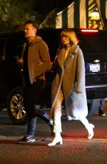 Jaime King and husband Kyle Newman look fashionable as they exit dinner at San Vincent Bungalows in West Hollywood