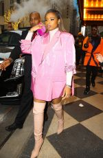 Jennifer Hudson In a pink blazer dress while out and about on a press run in NYC