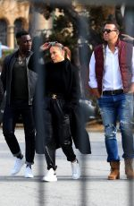 Jennifer Lopez and Alex Rodriguez are all business, real estate shopping on Sunday morning in Hollywood