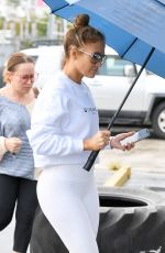 Jennifer Lopez Arrives at the gym in Miami