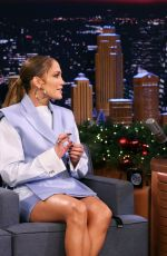 Jennifer Lopez On the tonight show with Jimmy Fallon in New York