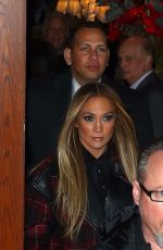 Jennifer Lopez Seen heading to the SNL cast dinner in New York