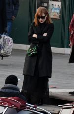 Jessica Chastain and her husband Gian Luca Passi enjoy a walk in Venice