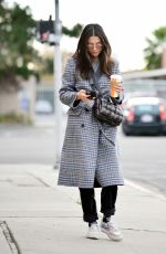 Jessica Gomes Wraps up warm during a chilly lunch outing in LA
