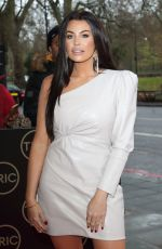 Jessica Wright Arrives at the TRIC Christmas Charity Lunch at the Grosvenor House Hotel in London